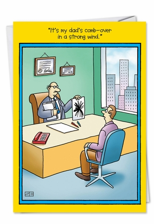 Hysterical Birthday Father Card From NobleWorksInc.com - Psychology Test