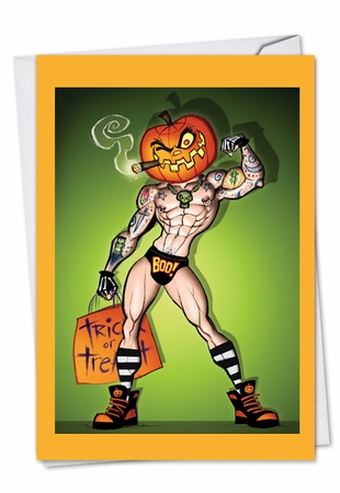 Funny Halloween Card From NobleWorksInc.com - Pumpkinhead