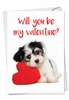 Hysterical Valentine's Day Card From NobleWorksInc.com - Puppy Heart