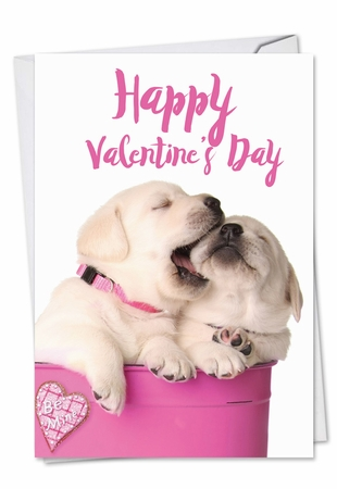 Funny Valentine's Day Card From NobleWorksInc.com - Pups in Love