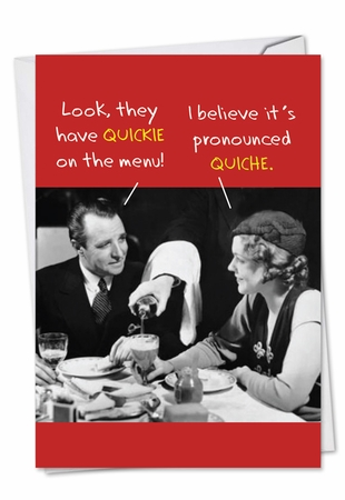 Hilarious Birthday Card From NobleWorksInc.com - Quickie Quiche