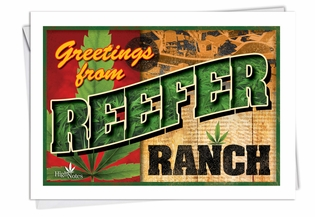 Humorous Birthday Card From NobleWorksInc.com - Reefer Ranch