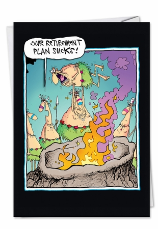 Hysterical Retirement Card From NobleWorksInc.com - Retirement Plan Stinks