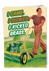 Hysterical Birthday Father Card From NobleWorksInc.com - Retro Lawn Mower