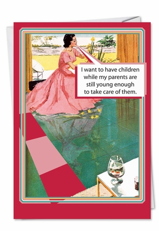 Funny Birthday Mother Card From NobleWorksInc.com - Retro Mom Thoughts