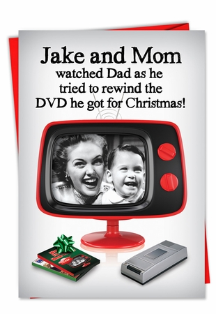 Funny Christmas Card From NobleWorksInc.com - Rewind the DVD