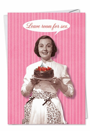 Funny Valentine's Day Card From NobleWorksInc.com - Room for Sex