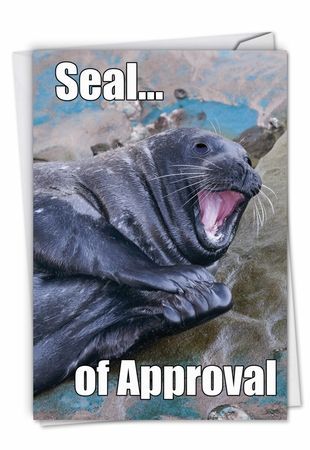 Humorous Congratulations Card From NobleWorksInc.com - Seal Of Approval