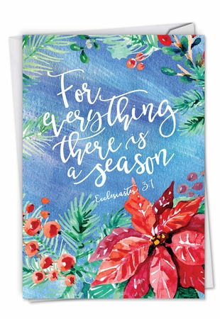 Artful Seasons Greetings Card From NobleWorksInc.com - Season for Everything