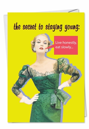 Hilarious Birthday Card From NobleWorksInc.com - Secret Of Youth