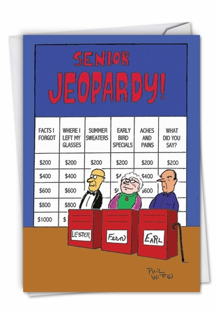 Hilarious Birthday Card From NobleWorksInc.com - Senior Jeopardy