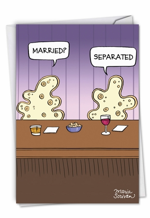 Funny Valentine's Day Card From NobleWorksInc.com - Separated Cells