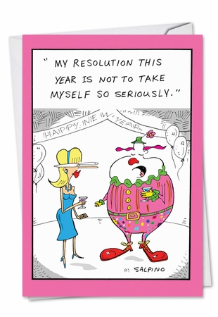 Funny New Year Card From NobleWorksInc.com - Serious Resolution