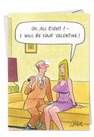 Humorous Valentine's Day Card From NobleWorksInc.com - Show You My Breasts