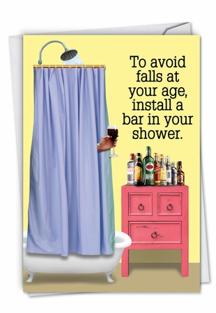 Hysterical Birthday Card From NobleWorksInc.com - Shower Bar