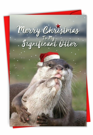 Hilarious Merry Christmas Card From NobleWorksInc.com - Significant Otter Christmas
