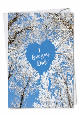 Funny Father's Day Card From NobleWorksInc.com - Sky Heart-Dad