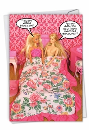 Slept With A Brazilian Funny Birthday Card by NobleWorks and Hotson, Kirsty