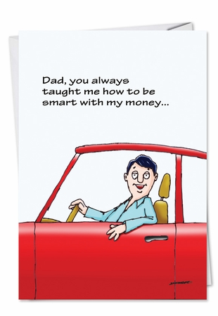 Humorous Father's Day Card From NobleWorksInc.com - Smart With Money