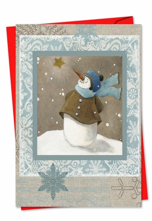 Beautiful Christmas Card From NobleWorksInc.com - Snow Angels