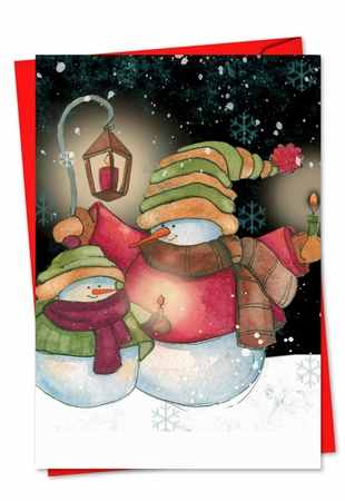Beautiful Seasons Greetings Card From NobleWorksInc.com - Snow Pals