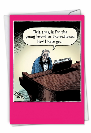 Humorous Valentine's Day Card From NobleWorksInc.com - Song For Young Lovers