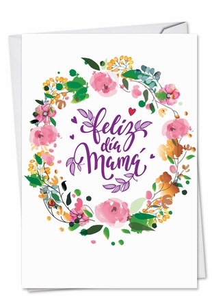 Artful Mother's Day Card From NobleWorksInc.com - Spanish