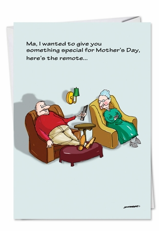 Humorous Mother's Day Card From NobleWorksInc.com - Special Remote