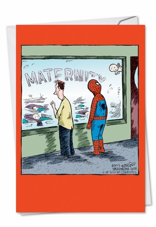 Hysterical Baby Card From NobleWorksInc.com - Spiderman Baby