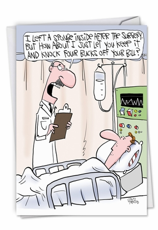 Hysterical Get Well Card From NobleWorksInc.com - Sponge Surgery