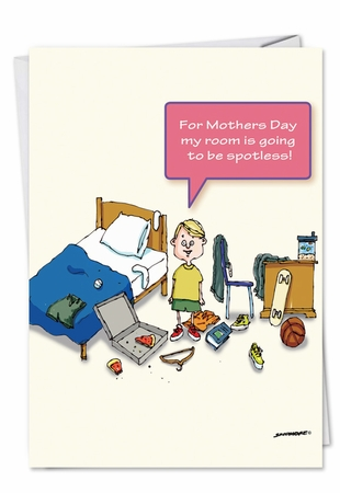 Humorous Mother's Day Card From NobleWorksInc.com - Spotless Room