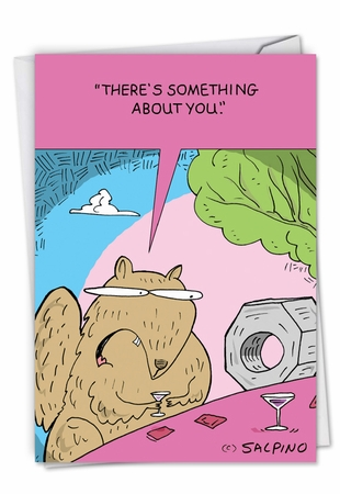 Humorous Valentine's Day Card From NobleWorksInc.com - Squirrel and Nut