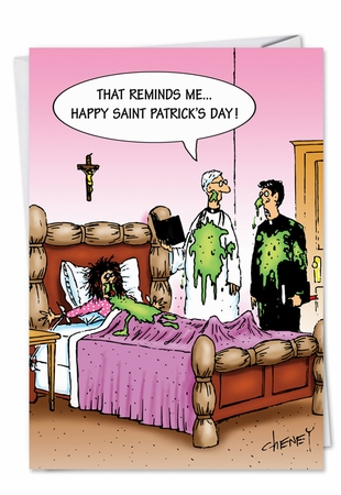 Hysterical Saint Patrick's Day Card From NobleWorksInc.com - St. Patty Barf