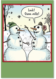 Stem Cells Funny Christmas Card by NobleWorks and Bizarro by Dan Piraro