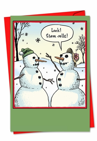 Humorous Blank Christmas Card From NobleWorksInc.com - Stem Cells