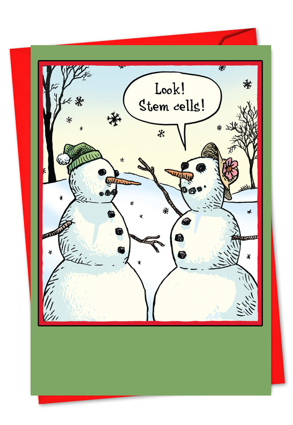 Wholesale Stem Cells Christmas Humor Card - Dan Piraro