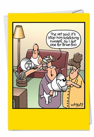 Humorous Birthday Card From NobleWorksInc.com - Stop Scratching