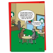 Stressful Holidays Funny Christmas Card by NobleWorks and Scott Metzger