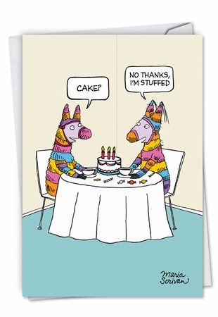 Hilarious Birthday Card From NobleWorksInc.com - Stuffed Pinata