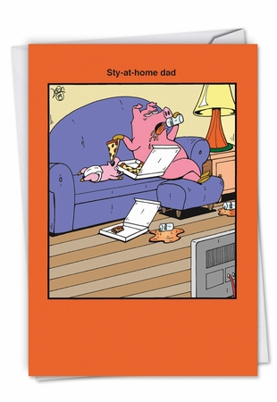 Hilarious Father's Day Card From NobleWorksInc.com - Sty-At-Home Dad