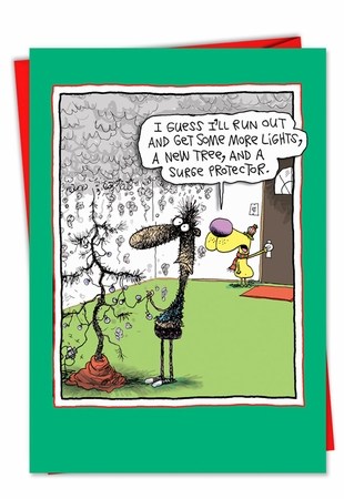 Funny Christmas Card From NobleWorksInc.com - Surge Protector