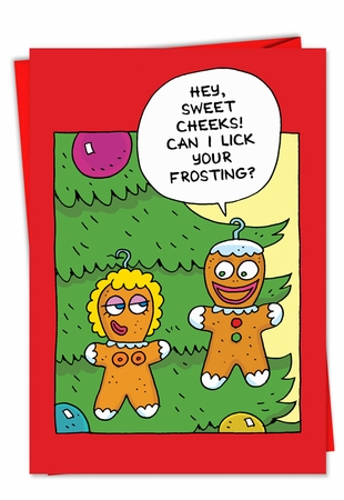Funny Christmas Card From NobleWorksInc.com - Sweet Cheeks
