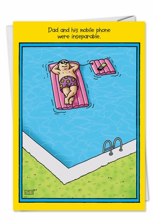 Hysterical Birthday Father Card From NobleWorksInc.com - Swimming Pool Dad