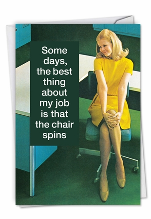 Humorous Administrative Professionals Day Card From NobleWorksInc.com - Swivel Chair