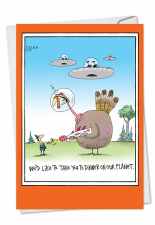 Hilarious Thanksgiving Card From NobleWorksInc.com - Take You To Dinner