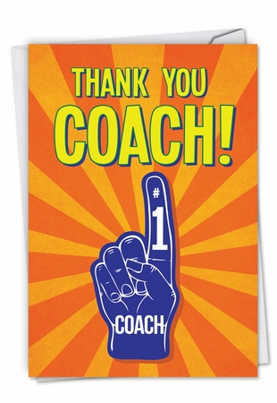 Humorous Thank You Card From NobleWorksInc.com - Thank You Coach From All
