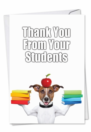 Humorous Thank You Card From NobleWorksInc.com - Thank You From Students