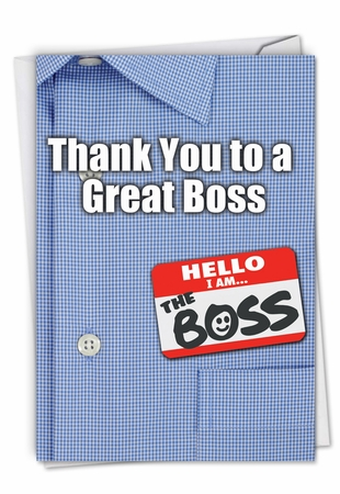Humorous Thank You Card From NobleWorksInc.com - Thank You to a Great Boss