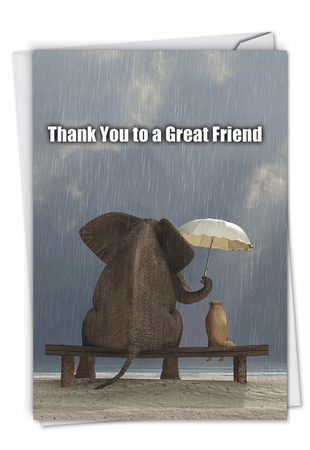 Funny Thank You Card From NobleWorksInc.com - Thank You to a Great Friend