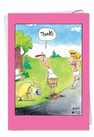 Humorous Thank You Card From NobleWorksInc.com - Thanks Dog